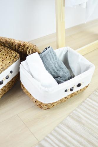 Sepetcibaba - 2 Li Hasır Banyo - Saklama Sepeti