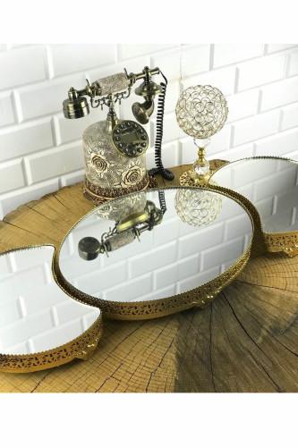 - 3 Parça Jardinyer Gold