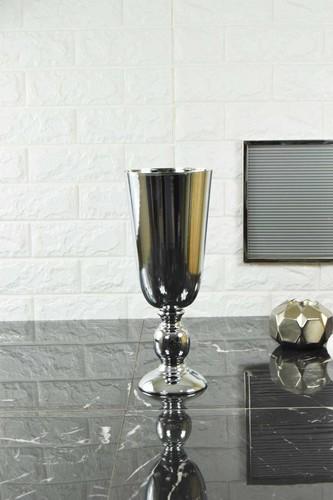- 34 Cm Uzun Vazo Gümüş