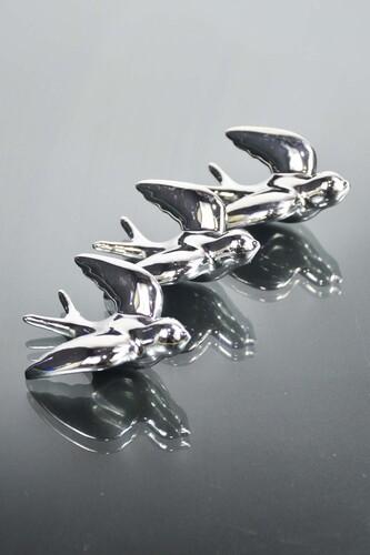 - 4'lü Seramik Kuş Dolap Magneti Gümüş