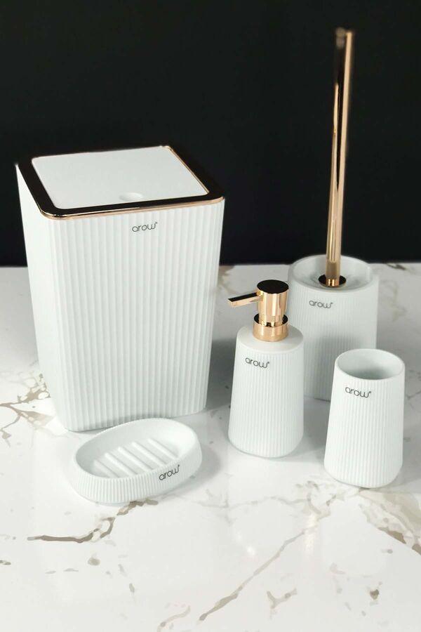 5 Parça Banyo Seti Akrilik Beyaz