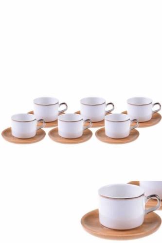 - Affo - 6 Kişilik Kahve Fincan Takımı Altın Yaldızlı