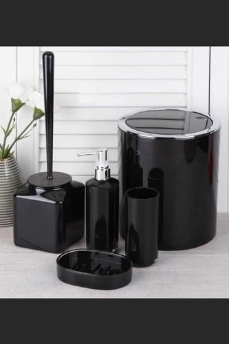 - Akrilik Banyo Seti Siyah