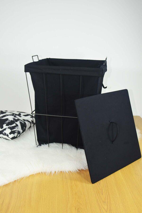 Ariel - Metal Çamaşır Sepeti Kare Siyah