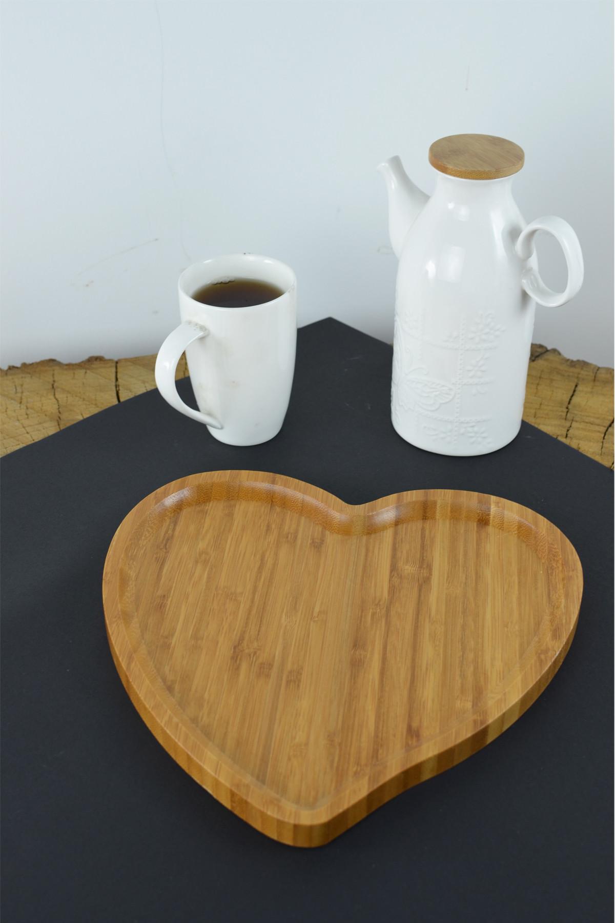 - Bambu Kalp Sunum Tabağı