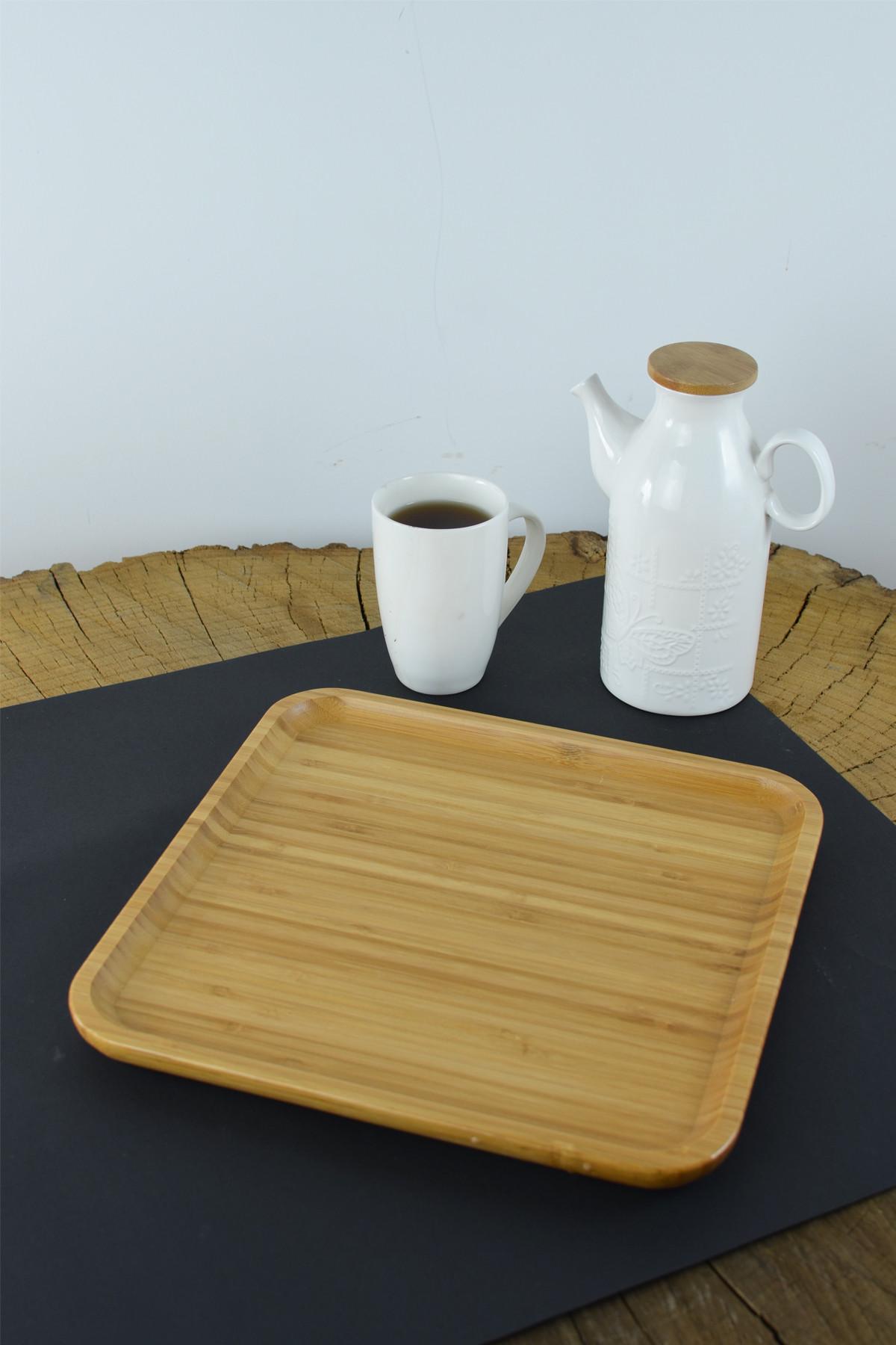 - Bambu Kare Sunum Tabağı 30 Cm