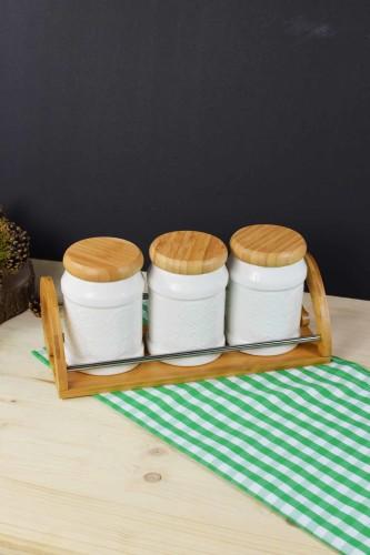 - Bambu & Porselen 3 Lü Baharat Seti