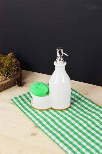 - Bambu & Porselen Sıvı Sabunluk