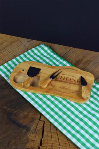 - Bamwood 4 Parça Peynir Servisi