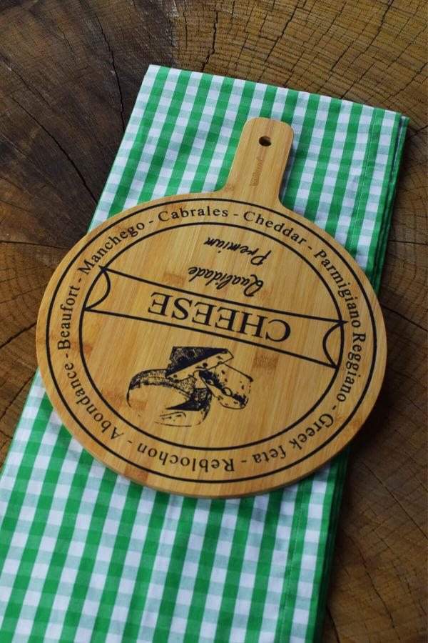 Bamwood Peynir Sunum Tabağı