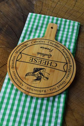 - Bamwood Peynir Sunum Tabağı