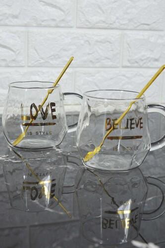 - Believe - 2 Kişilik Cam Kupa Seti
