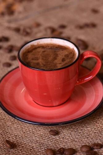 - Bella - 2 Kişilik Kahve Fincan Takımı Kırmızı