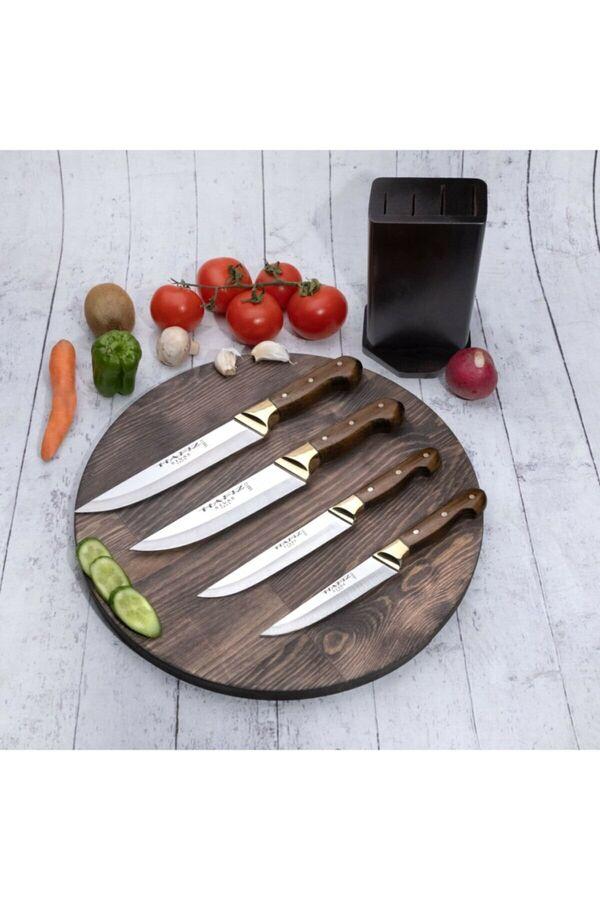 Bıçakcı Hafız El Yapımı Profesyonel Standlı Mutfak Bıçak Seti 4'lü