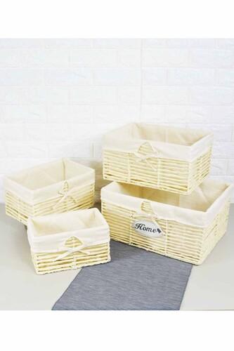 - Box - 4 Lü Hasır Kutu