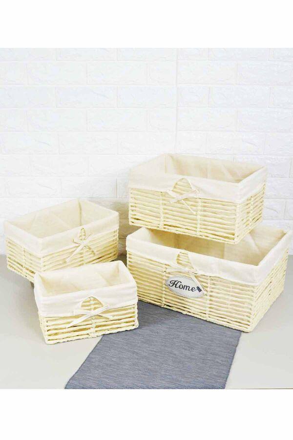 Box - 4 Lü Hasır Kutu
