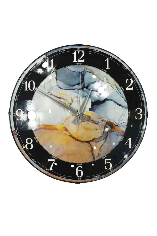 Buzlu Mermer Desen Duvar Saati