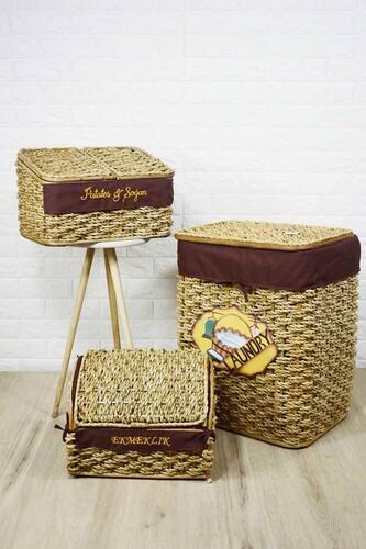 - Çamaşır Sepeti Ekmek ve Patates Sepeti Seti
