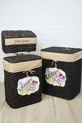 - Çamaşır Sepeti Seti + Patates Sepeti Siyah