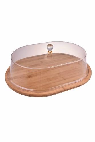 - Carolin - Akrilik Kapaklı Kek Fanusu Oval