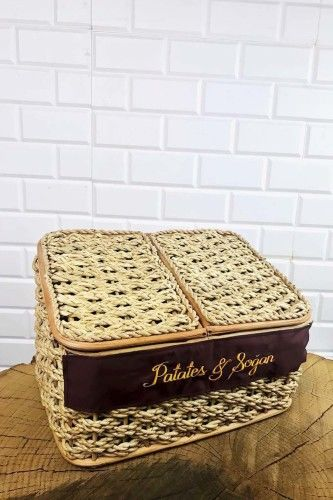 Çift Bölmeli Patates&Soğan Sepeti Krem