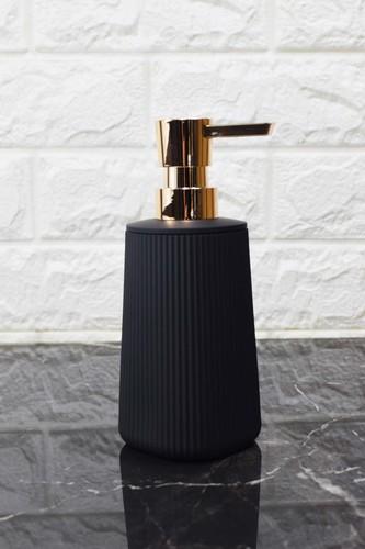 - Çizgi Desenli Akrilik Sıvı Sabunluk Siyah