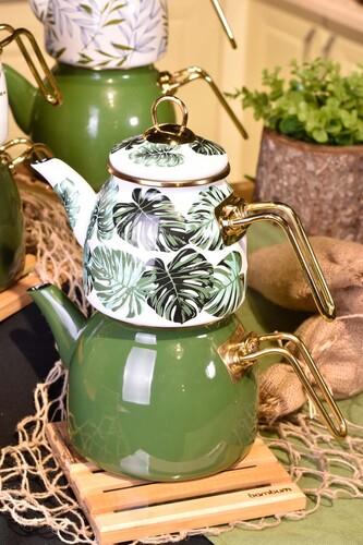 - Clara - Nihaleli Çaydanlık Takımı Amazon Desenli