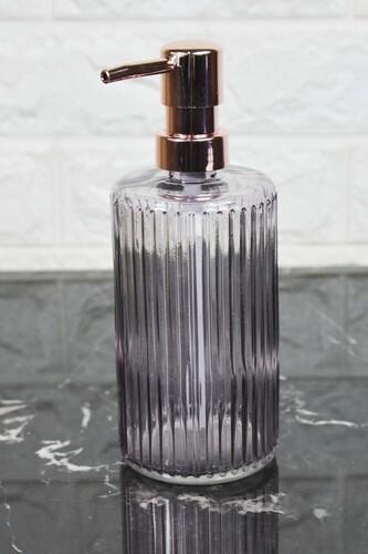 - Damien - Cam Sıvı Sabunluk Kırık Şeffaf