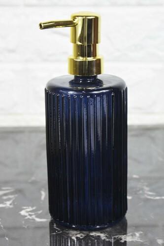 - Damien - Cam Sıvı Sabunluk Lacivert