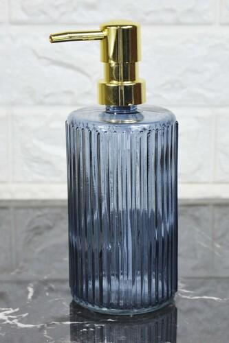 - Damien - Cam Sıvı Sabunluk Mavi