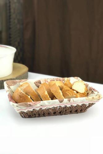 Sepetcibaba - Dikdörtgen Hasır Ekmek Sepet
