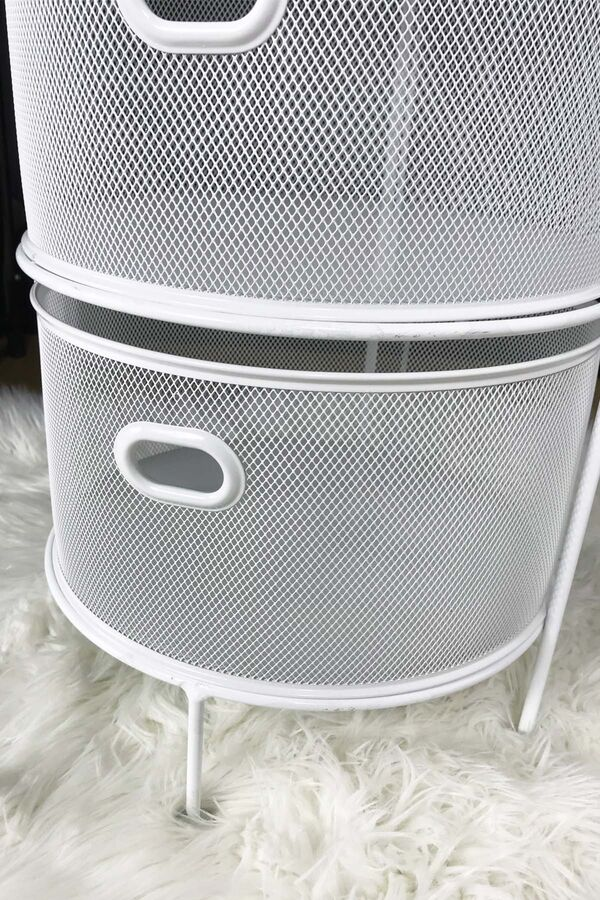 Drawe - 5 Katlı Metal Sebzelik Beyaz
