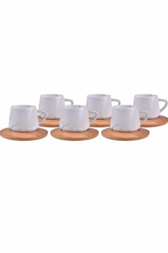 - Ebru – 6 Kişilik Kahve Fincanı Yeşil