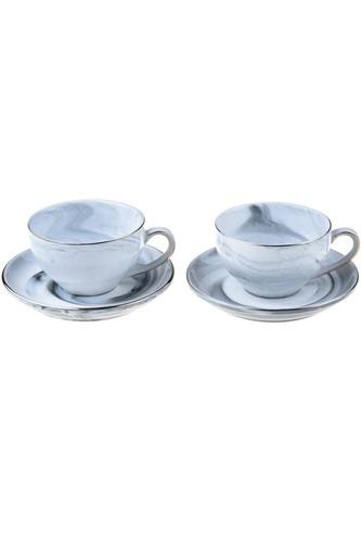 - Ebruli - 2 Kişilik Çay Fincan Takımı Mavi