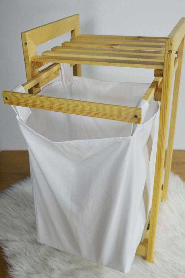 Eko - Çamaşır Sepeti Sürgülü Krem