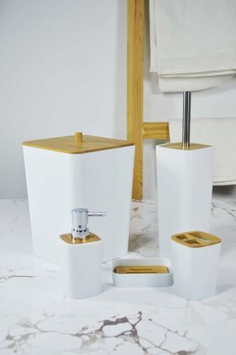 - Emily - 5 Parça Lüx Banyo Seti Beyaz