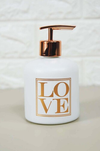 - Enzo Sıvı Sabunluk Küçük Beyaz