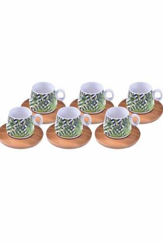 Fidan - 6 Kişilik Kahve Fincan Takımı