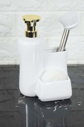 - Fırçalı Sıvı Sabunluk Beyaz