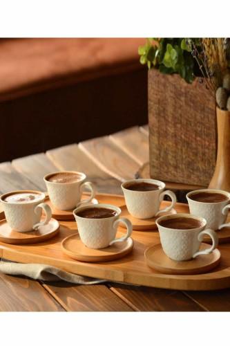 - Flo - 6 Kişilik Kahve Fincan Takımı