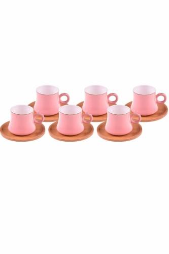 - Harem - 6 Kişilik Kahve Fincan Takımı Pembe