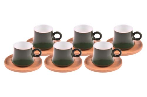 - Harem - 6 Kişilik Kahve Fincan Takımı Yakut