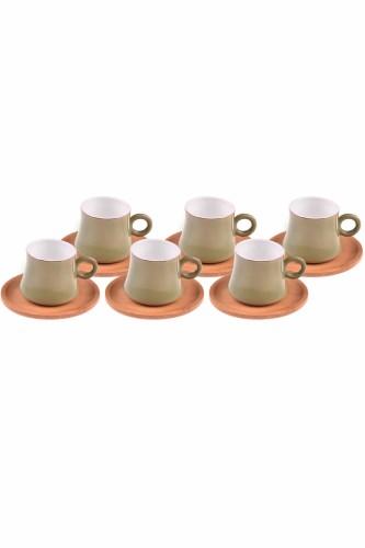 - Harem - 6 Kişilik Kahve Fincan Takımı Yeşil