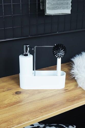 - Harper - Fırçalı Standlı Sıvı Sabunluk Beyaz