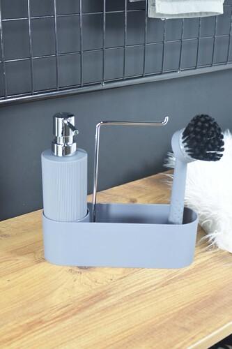 - Harper - Fırçalı Standlı Sıvı Sabunluk Gri
