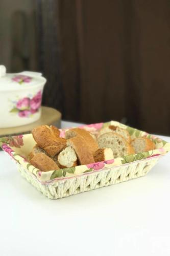 Sepetcibaba - Hasır Dikdörtgen Ekmek Sepet
