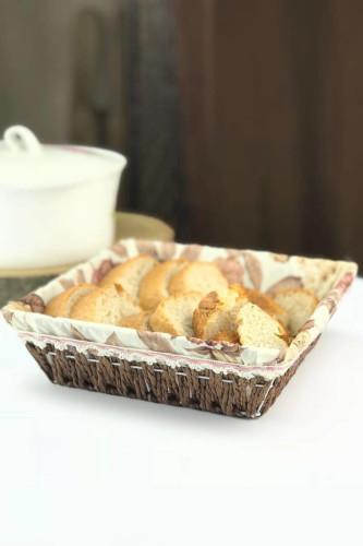 Sepetcibaba - Hasır Kare Ekmek Sepet