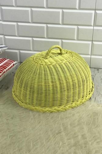 - Hasır Kek Fanusu Oval Sarı