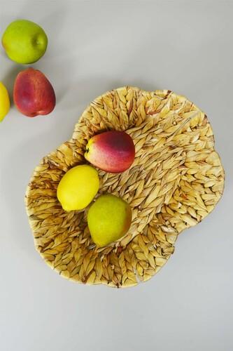 - Hasır Meyve Sepeti Oval