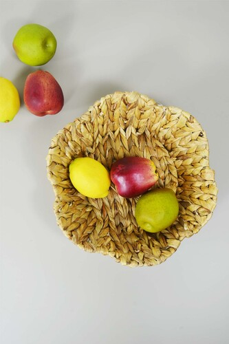 - Hasır Meyve Sepeti Yuvarlak